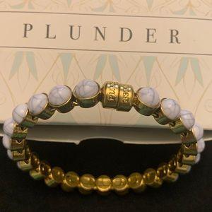 Plunder White and Gray Marble Bracelet